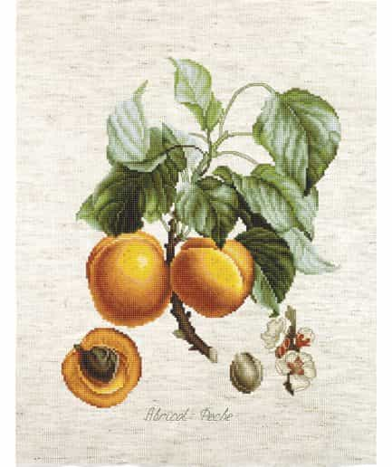 luca-s borduurpakket abrikoos perzik