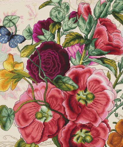 luca-s borduurpakket bloemen