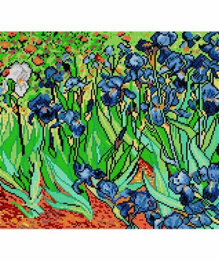 voorbedrukt patroon irissen van gogh