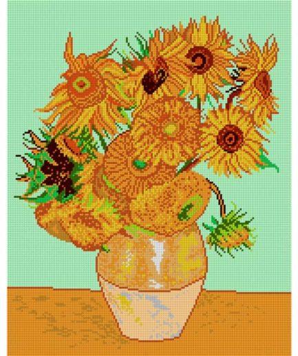 voorbedrukt patroon zonnebloemen van gogh