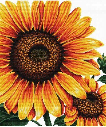 Zonnebloem: voorbedrukt borduurpakket van et merk NeedleArt World