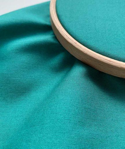 blauwgroen katoen om op te borduren