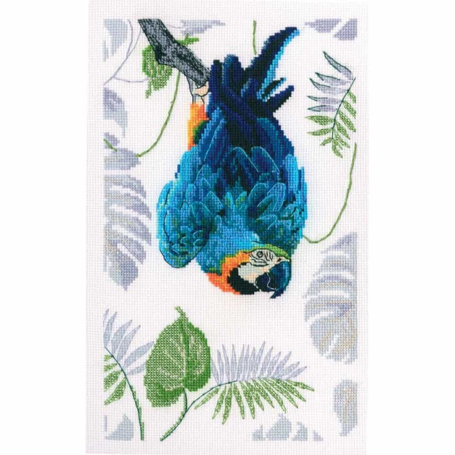 Borduurpakket papegaai macaw