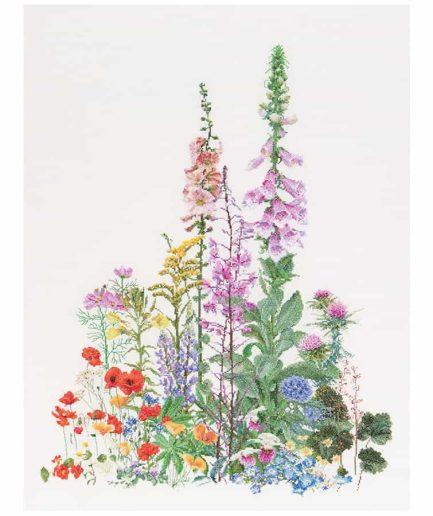 Thea Gouverneur borduurpakket wilde bloemen
