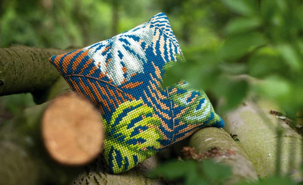 vervaco jungle kussen borduren