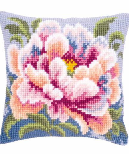 Vervaco kussen borduren camellia