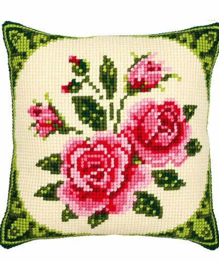 Vervaco kussen borduren rozen