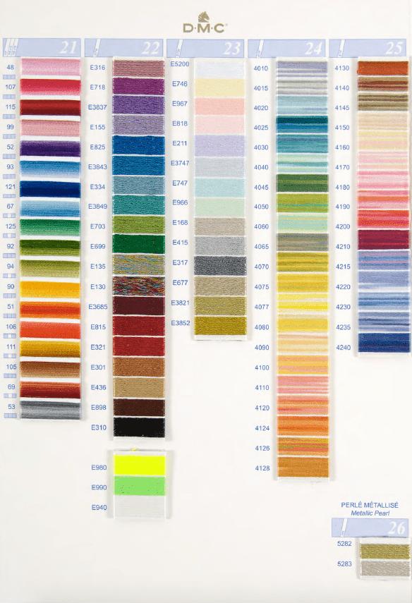 DMC kleurnummers