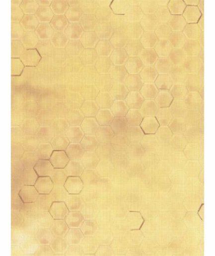 aida borduurstof honingraat print
