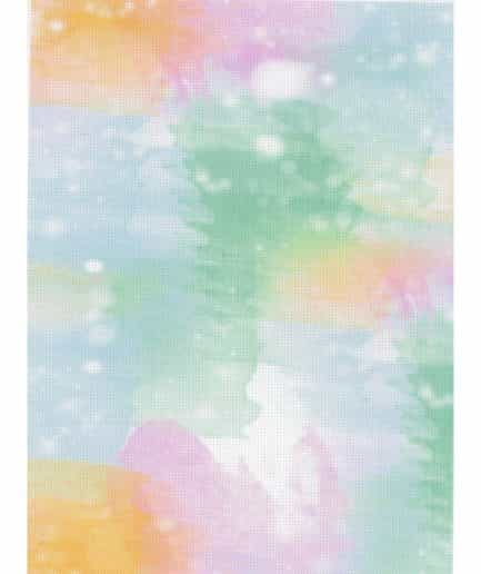 aida regenboog waterverf print