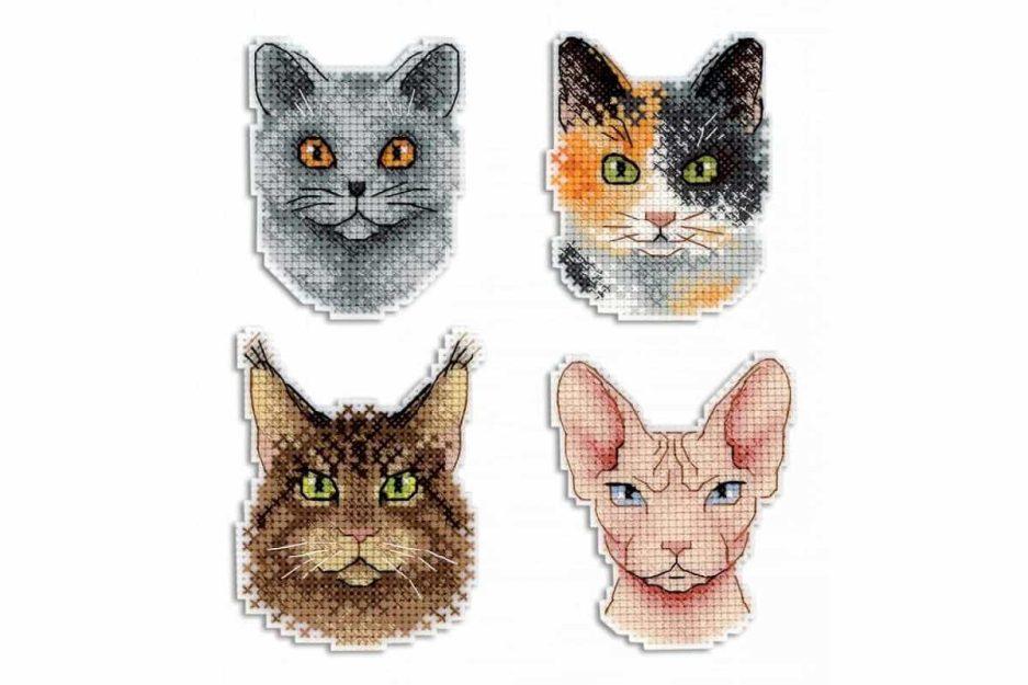 Borduurpakket katten magneten