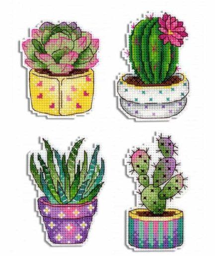 cactussen borduren magneten