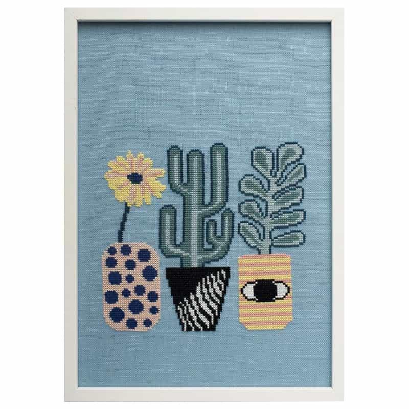Oehlenschlager borduurpakket planten blue