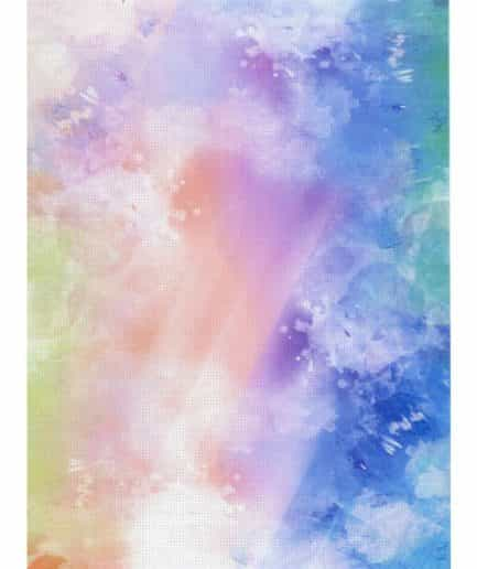 regenboog waterverf aida print