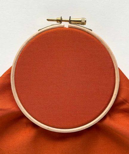 terracotta katoenen stof