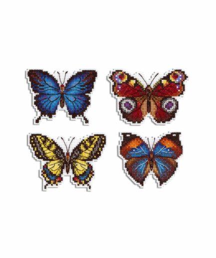 vlinders borduren magneten