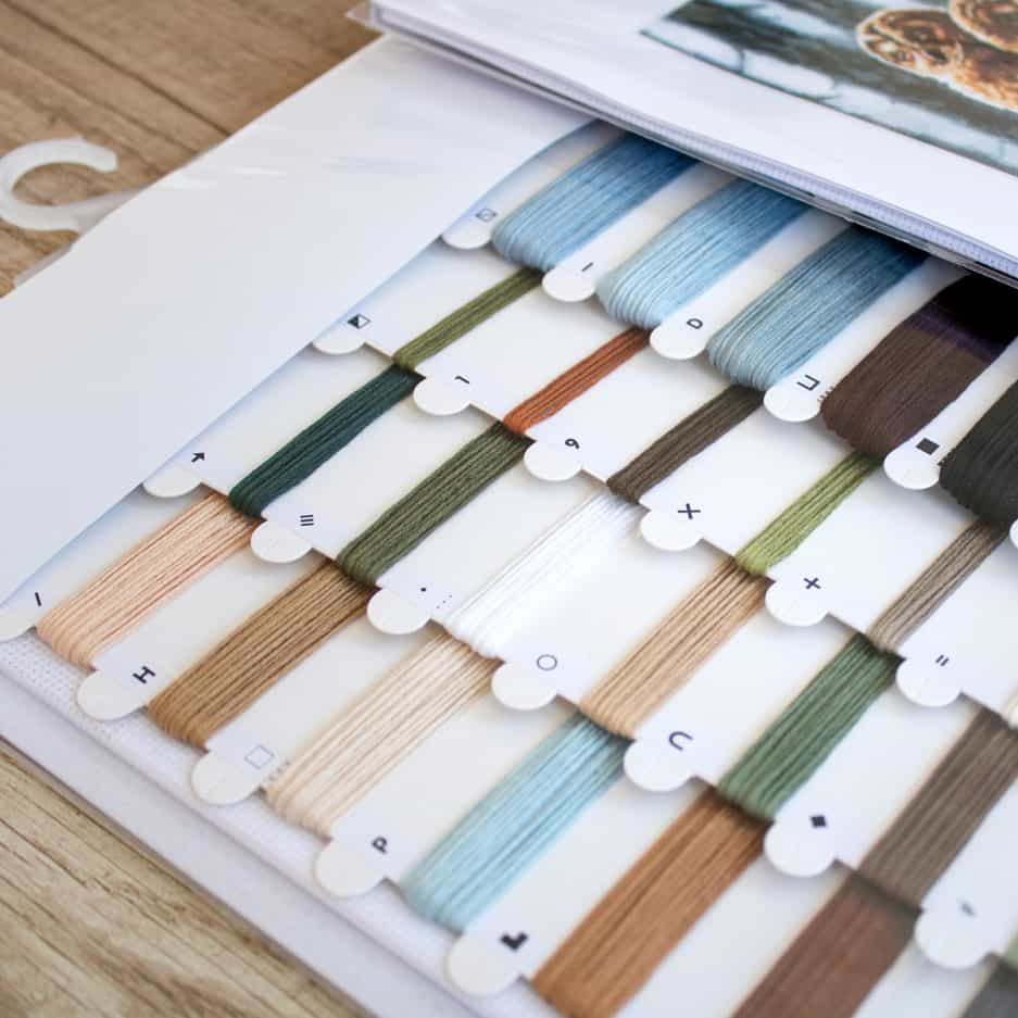 Uilen borduurpakket kleuren