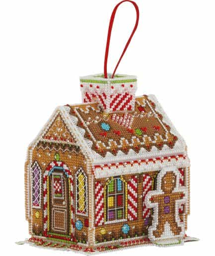Borduurpakket koekhuisje gingerbread house