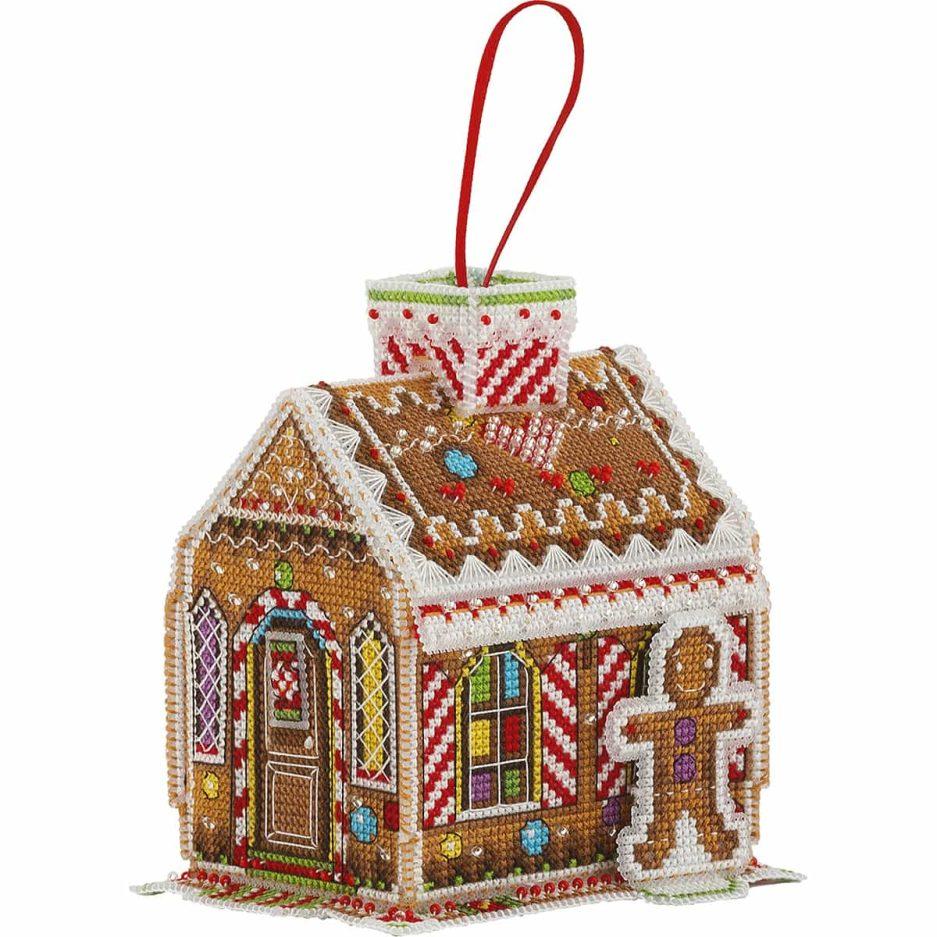 Borduurpakket koekhuisje gingerbread house