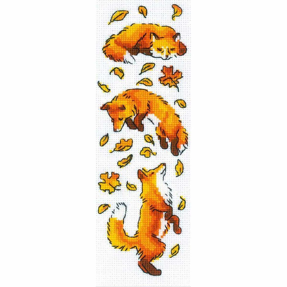 Borduurpakket vossen herfst