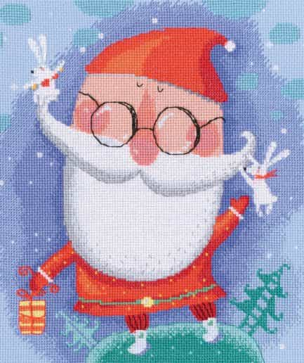 cheerful santa kerst borduurpakket
