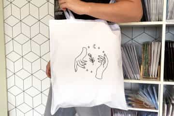 Gratis borduurpatroon voor borduren op een tas