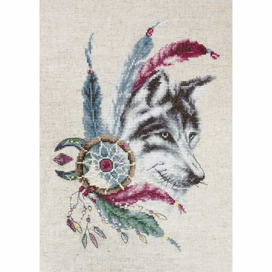 Kruissteek borduurpakket wolf