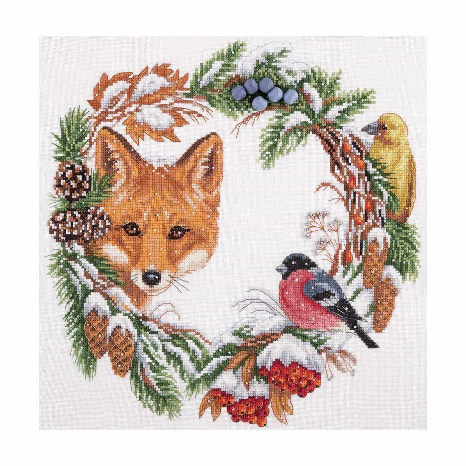 winterkrans borduren borduurpakket