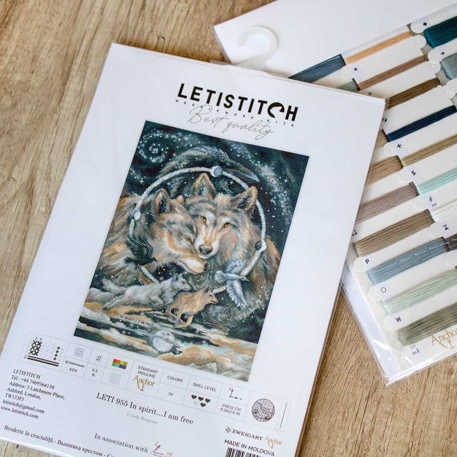 Wolven borduurpakket letistitch