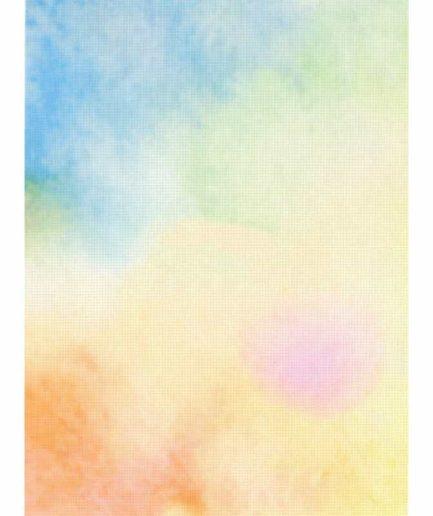 Gekleurde aida met print