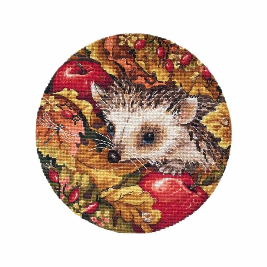 Merejka herfst borduurpakket egel