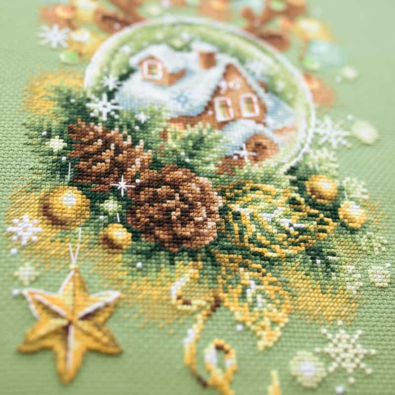 Christmas borduurpakket groen