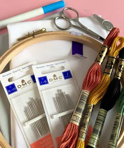 Starterkit: Vrij Borduren embroidery set
