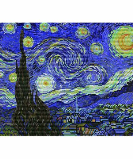 Voorbedrukt borduurpakket sterrennacht van gogh