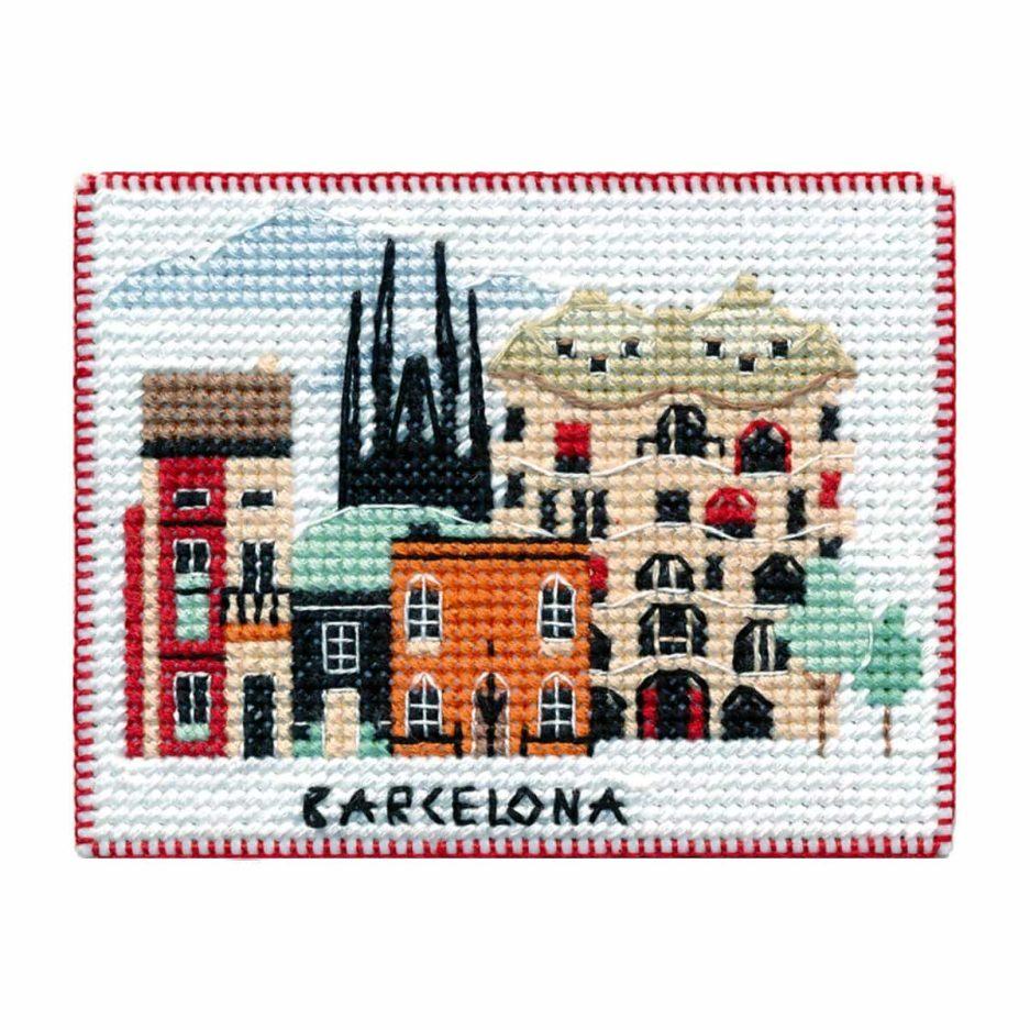 Koelkastmagneet Barcelona borduren