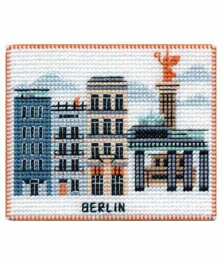 Koelkastmagneet Berlijn borduren