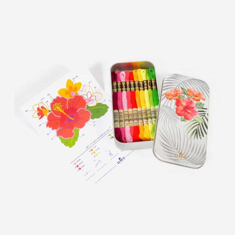DMC garen set floral limited edition blik