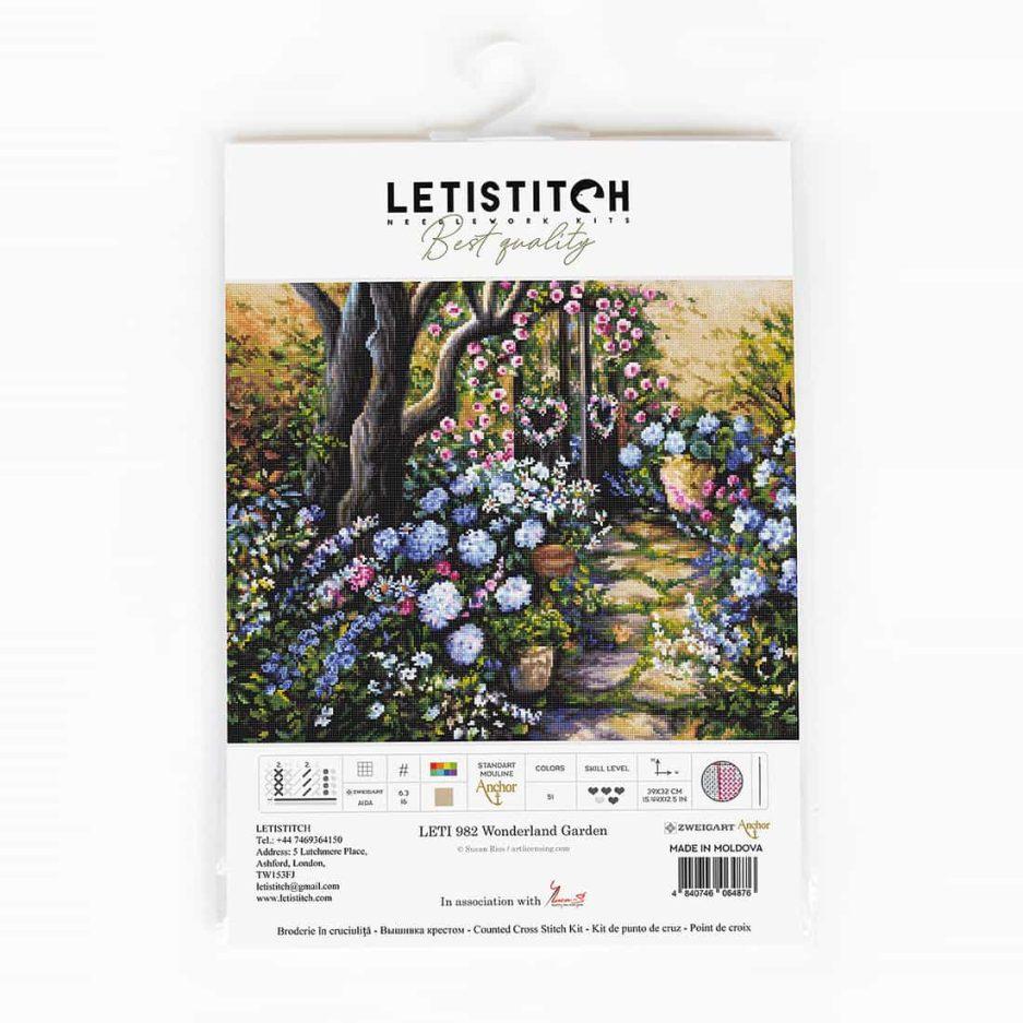 LetiStitch borduurpakket bloementuin