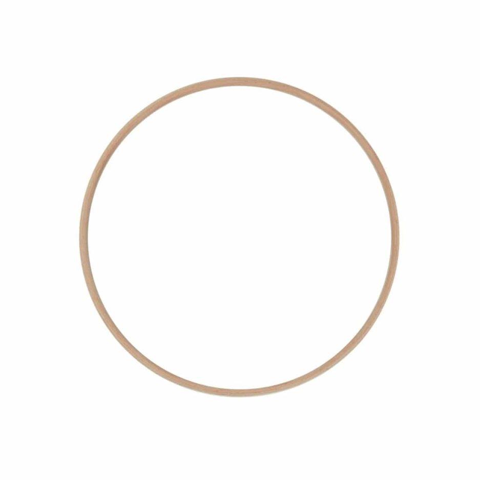 Houten ring voor macrame