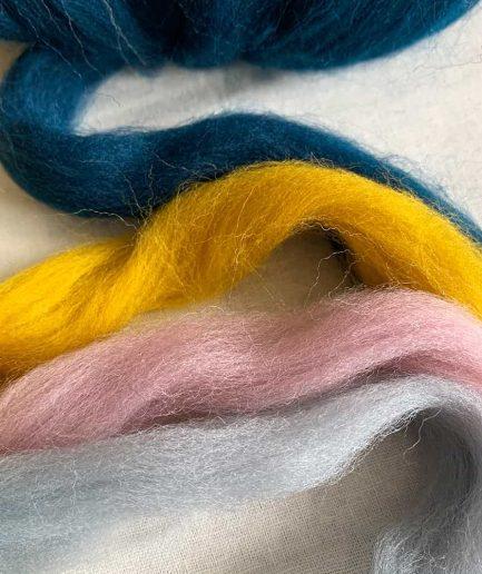Lontwol voor macrame en weven