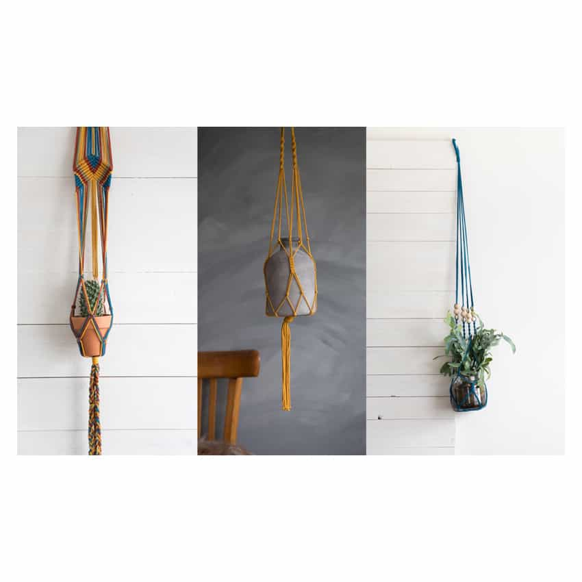 Macrame plantenhangers DIY kit
