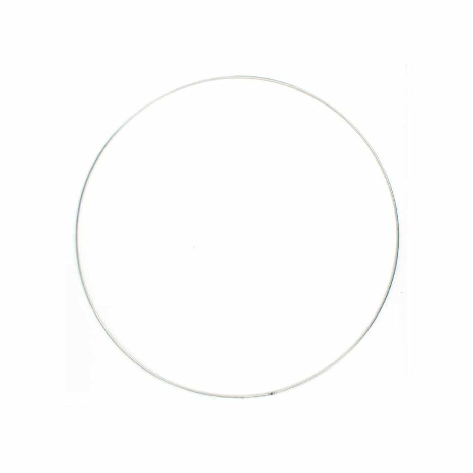 Metalen ring macramé