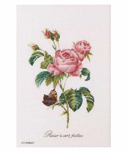 Thea Gouverneur borduurpakket roos