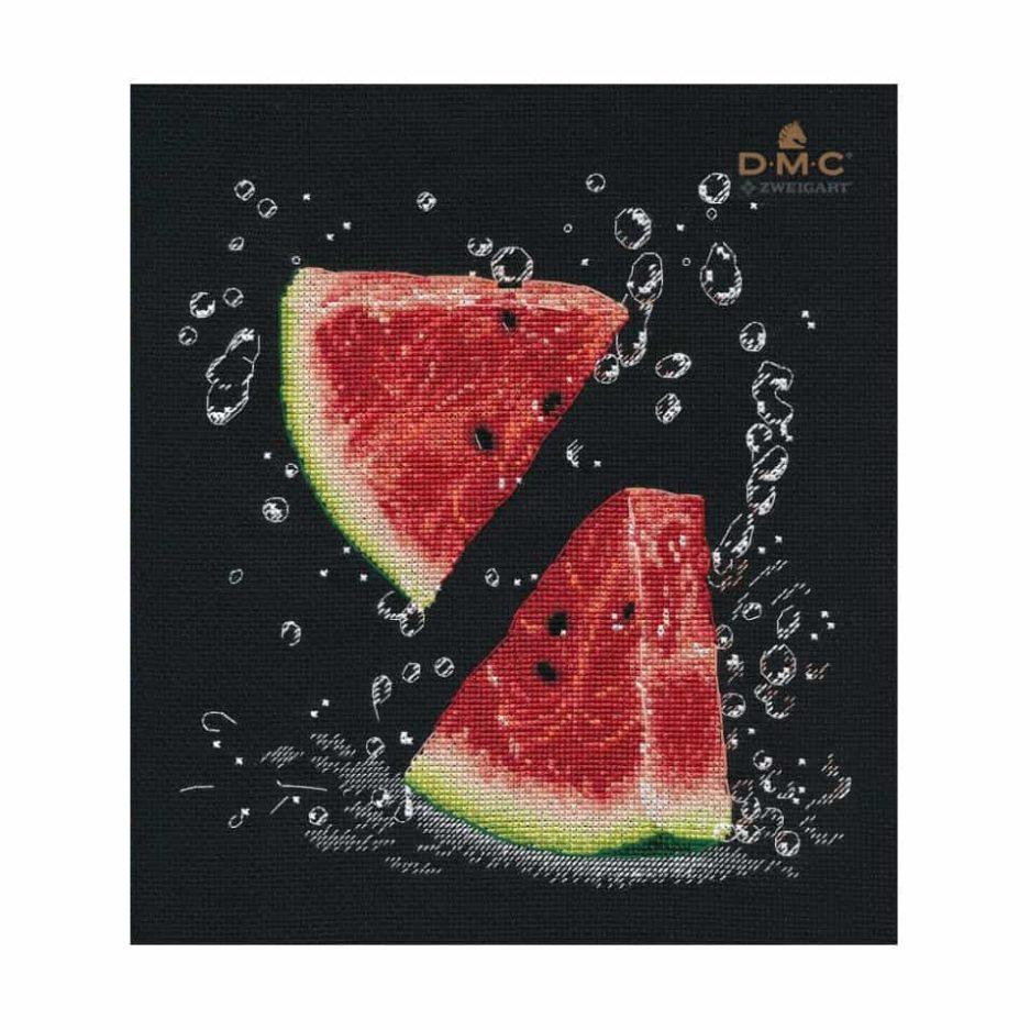 Watermeloen borduren