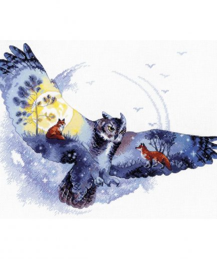 Borduurpakket uil vossen bos