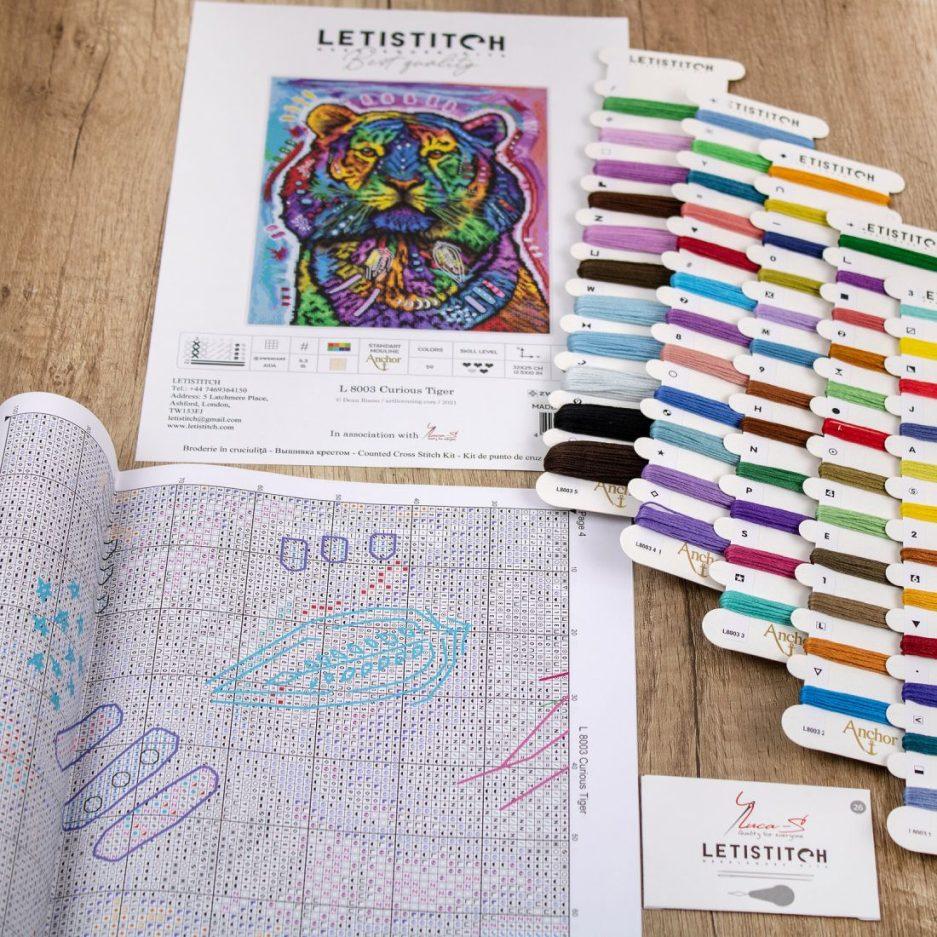 Borduurpatroon in borduurpakket