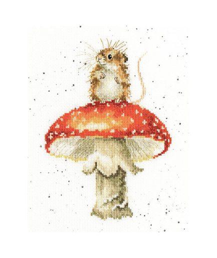 Bothy Threads borduurpakket fungi muis en paddestoel