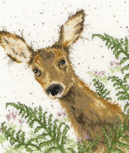 Bothy Threads borduurpakket hert en varens - doe a deer