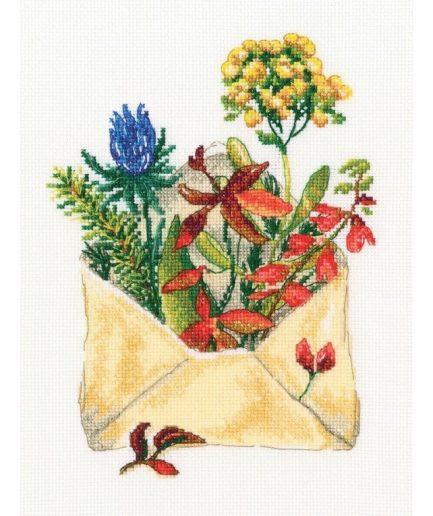 Borduurpakket letter from the forest
