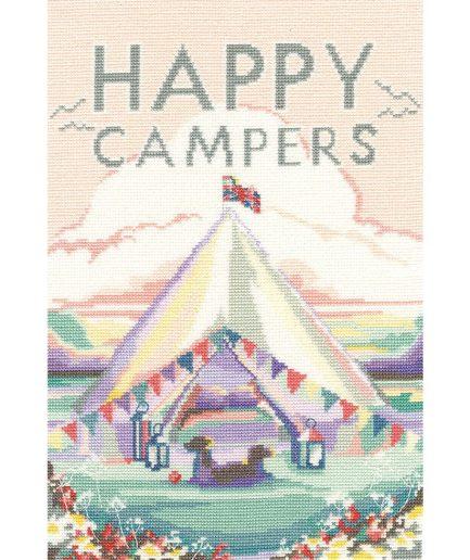 Bothy Threads happy campers borduurpakket